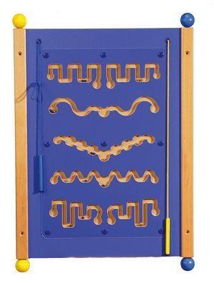 Wandelement blau MDF Magnet Rallye, 80 x 56 cm