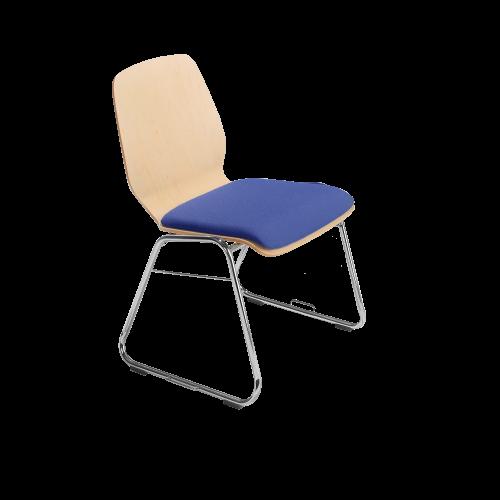 """Stuhl """"Marko""""mit Sitz- und Rückenpolster"""
