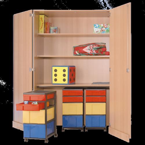 Garagenschrank mit 3 InBox Containern