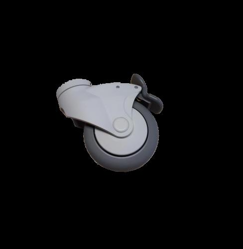 Designrolle 100mm Durchmesser, Bauhöhe 140mm, 4 Rollen 1 Satz .