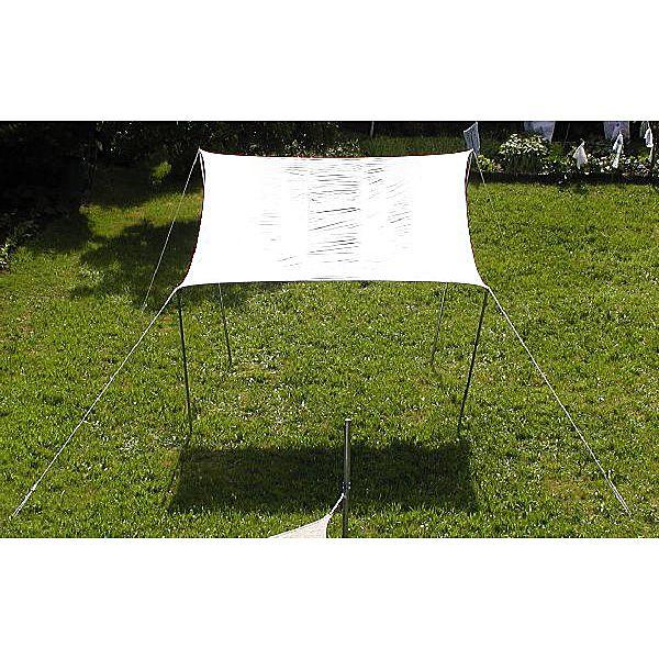 Sonnensegel 3,6 x 3,6 x 3,6 creme weiß - wasserabweisend -