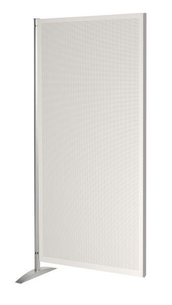 Spezial-Akustikwand hochgradig schallisolierend Raumteiler, grauweiß, B: 80 cm x H: 175 cm