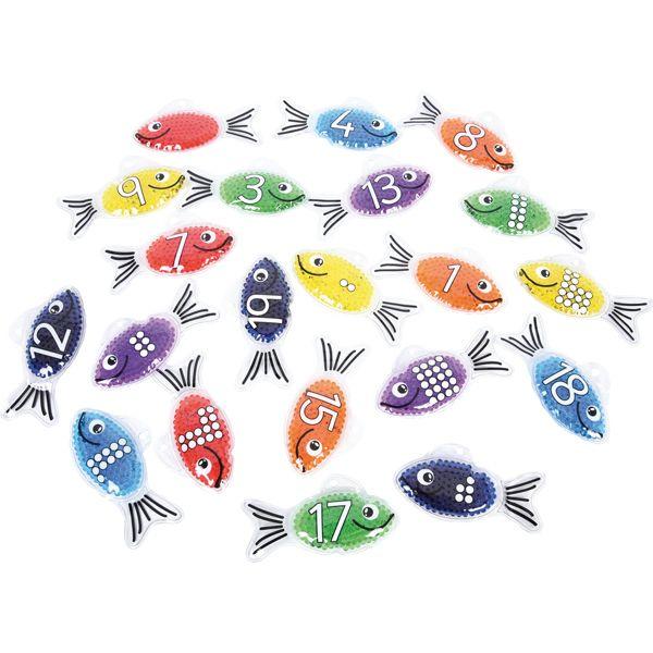 Gel-Fische mit Zahlen 21 Teile