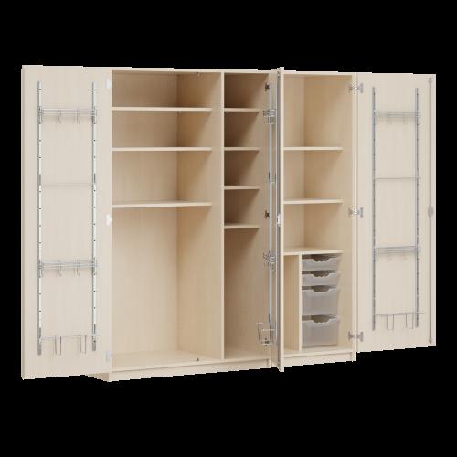 Zweitüriger Musikschrank MOFF 3, mit 4 ErgoTray-Boxen, 9 Einlegeböden