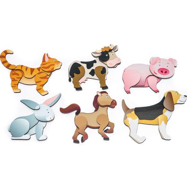 Magnetpuzzle Bauernhoftiere