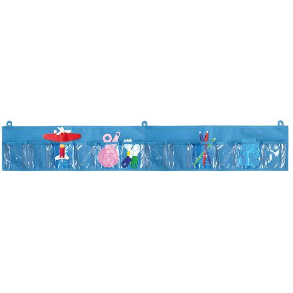 Wandorganizer 12 Taschen blue klein