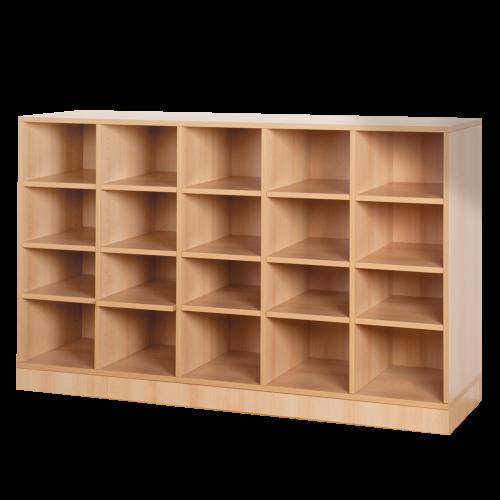 Offenes Regal mit 20 Fächern & Mittelwänden, B/H/T 162x98x40 cm
