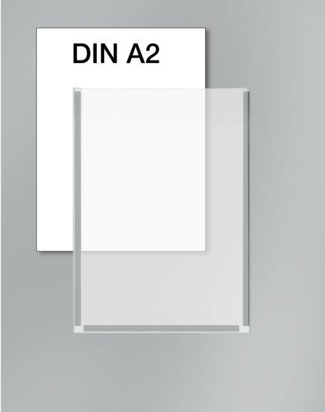 Plakattasche DIN A2 Breite 42 cm x Höhe 59,4 cm / Zubehör für Lochblech-Element KE-6966