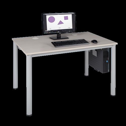 EDV-Tisch, Rundrohrgestell mit Kabelkanal, B/H/T: 80x72x80 cm