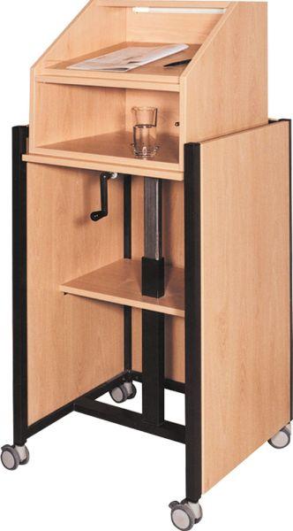 Rednerpult fahrbar BxHxt 58 x 100-125 x 52 cm
