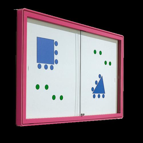 Informationsvitrine mit Whiteboardrückwand