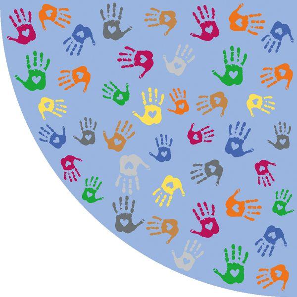Teppiche Hände Ecke 150 cm