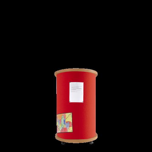 Mobile Litfaßsäule aus hochwertigem Klettenstoff, Farben wählbar, fahrbar