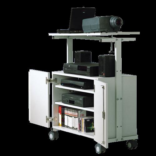 LCD-Projektorwagen mit Unterschrank, fahrbar