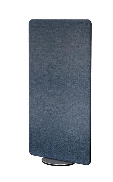 Sichtschutzwand Schallschutz Textilelement Metropol drehbar, blau, Breite 80 cm x Höhe 170 cm