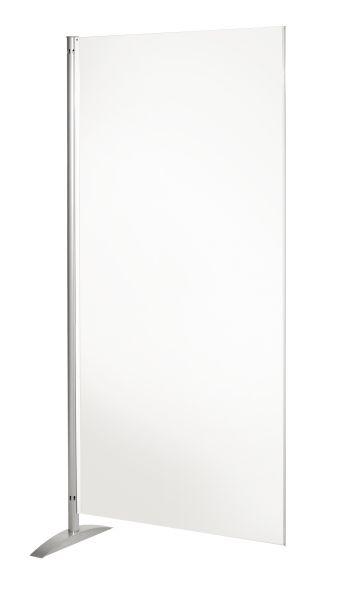Präsentationswand Metropol , Whiteboard-Element, beidseitig beschriftbar und magnethafend weiß B: 80