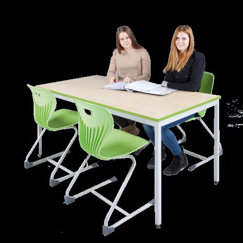 "Tisch ""Classic"" mit Quadratprofilrohrgestell"
