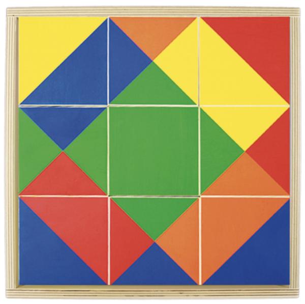 Farb-Legespiel mit fünf Farben