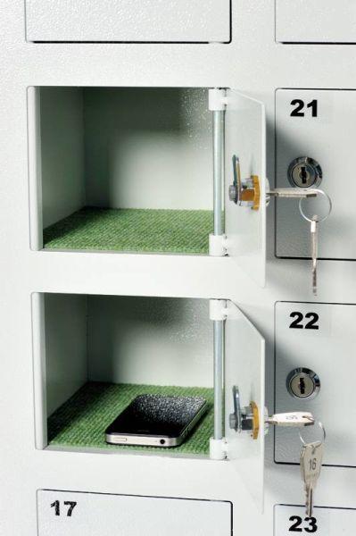 HandySafe Handyschrank für 5 Handys / Handytresor Handy Safe / Handyfächerschrank-