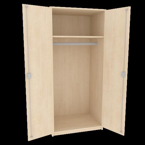 Zweitüriger Garderobenschrank mit einem Einlegeboden, Serie 471