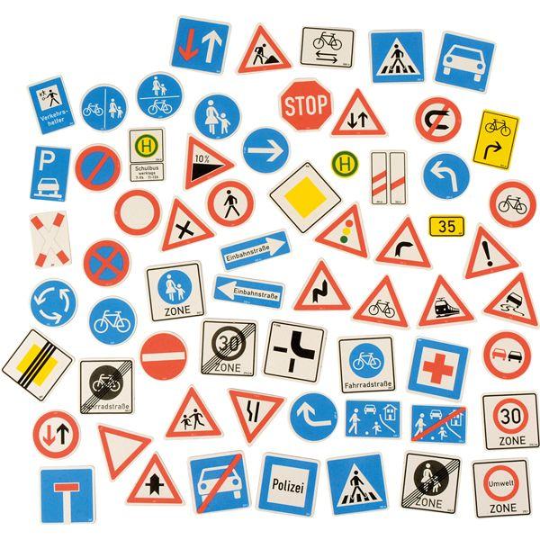 Verkehrszeichen 64 Stück magnetisch