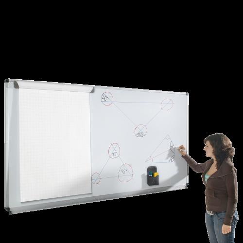 Whiteboard aus Stahl, Serie ST, weiß