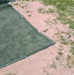Sandkastenabdeckung 4,00 x 6,00 m