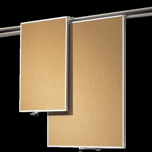 Korklinoltafel, Einhängetafel für Media-Rail 2