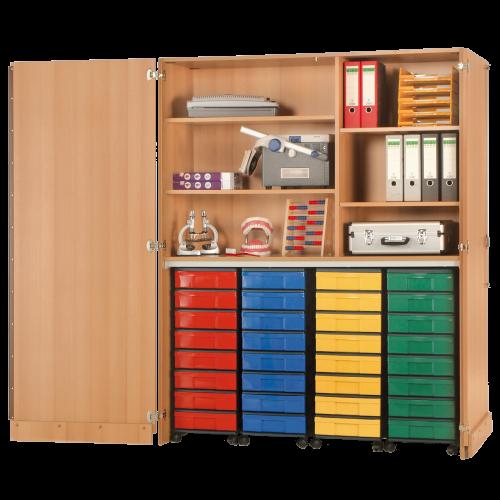 Garagenschrank mit 4 InBox Containern