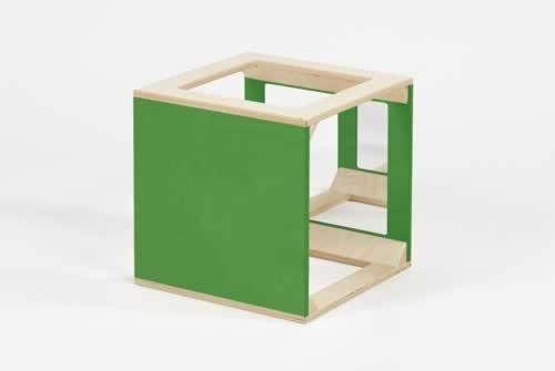 Würfel mit Spiegel grün
