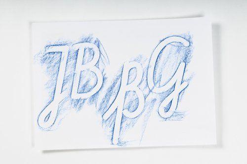 Buchstaben in Schreibschrift