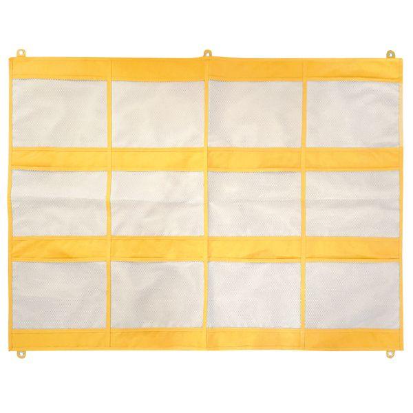 Wandorganizer 12 Taschen gelb groß
