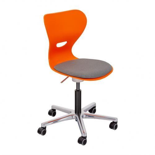 Höhenverstellbarer Drehstuhl mit Kunststoffsitzschale